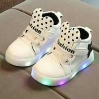 Jual 26-30 Led Mickey Fashion White Sepatu Sekolah Anak Murah