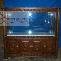 Buffet Aquarium Ukiran Jati, Buffet Aquarium Jati, Meja Aquarium Jati