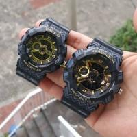 Jam Tangan G-Shock Couple Ga110/baby-g bga110 Black Gold Waterproof