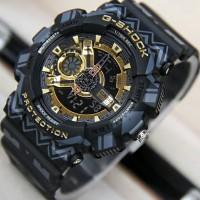 Jam Tangan Water Resist G-Shock GA110 Motif Black Gold