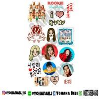 Sticker Kpop Red Velvet / Stiker Kpop Redvelvet Murah