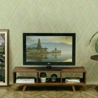Meja bufet lemari rak kabinet tv dan pajangan jati jepara model retro