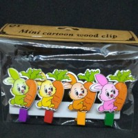 Mini cartoon wood clip