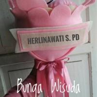 Graduation Flower / Bunga Wisuda Flanel Karakter Stitch
