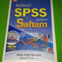 Aplikasi SPSS dan saham + CD berisi file input dan output data latihan