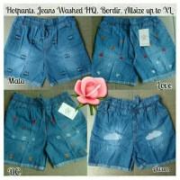 Jual Hotpants Jeans Murah,Celana Pendek Wanita,Hot Pants Jeans Motif Bordir Murah