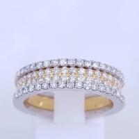 cincin emas putih dan berlian eropa natural dan asli