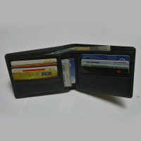 dompet pria kulit asli befold walet -hitam