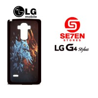 Casing HP LG G4 Stylus Dota 2 wallpaper red blue Custom Hardcase