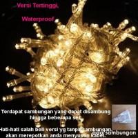 Jual Lampu Natal Imlek LED string dekorasi tumblr Twinkle Light WARM WHITE Murah