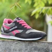 Sepatu Sport Reebok GL 6000 Abu Abu Pink   Kets Casual Olahraga Cewek 380f511764