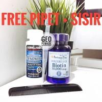PAKET Minoxidil + Biotin 10.000mcg 100 softgel
