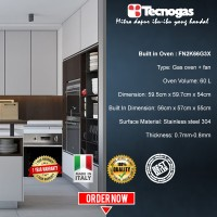 Tecnogas Oven FN2K66G3X Hot Sale!!