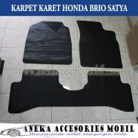 Aksesoris Interior Mobil Karpet Karet Auto Floor Mat Honda Brio Satya