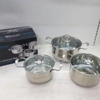 harga Panci Set Stainless Weston Nc003 / Panci Set Bisa Digunakan Induksi Tokopedia.com