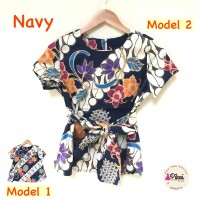 Batik Wanita Modern Murah / Batik Ikat / Dua Model / Blus Batik Kerja