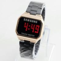 Jam Tangan Pria Cowok Samsung Watch LED Rantai Black Rosegold