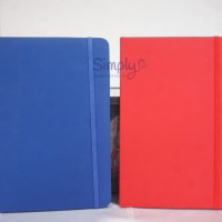 Buku Kulit/Buku Moleskin/Leather Notebook - WARNA BIRU - BJ00026