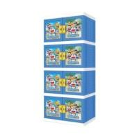Jual lemari Plastik Doraemon 3D Naiba 4 susun Murah