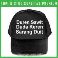 topi Duren Sawit duda Keren Sarang Duit Trucker Baseball Snapback TMB4