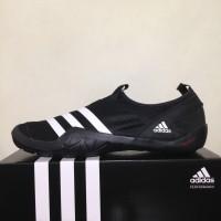 Sepatu Outdoor Adidas Climacool Jawpaw Slip On Black White M29553 Ori