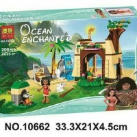 Brick Lego Bela 10662 Ocean Echanted 206pcs Princess Vaiana Moana