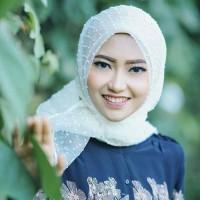 MURAH !! Jilbab Kerudung Segi Empat Linen Organza Dot White