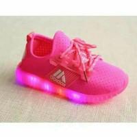TERMURAH !!    Sz.21-25 Sepatu Anak Adidas Yeezy Lampu LED