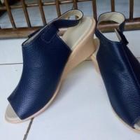 Sepatu Sandal Kulit Wedges 5cm Asli Garut Sukaregang
