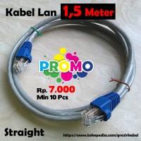 Kabel LAN 1,5 M Terpasag Konektor RJ45