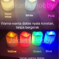 Jual Lilin Electric 7 warna/ Colorful LED Candle (lampu) jakarta hobby Murah