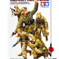 1/35 TAMIYA MILITARY MINIATURES WWII GERMAN AFRICA CORPS INFANTRY SET