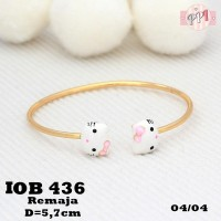 harga Gelang Xuping Hello Kitty Putih Lapis Emas Ob 436 Tokopedia.com
