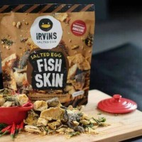 Irvins Salted Egg Fish Skin Singapore Snack Snek Kulit Ikan Telur Asin