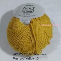 harga Drops Cotton Merino Kuning - Benang Rajut Import Wool Katun Wol Impor Tokopedia.com