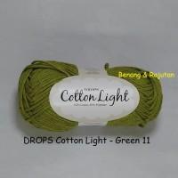 Jual DROPS Cotton Light hijau - benang rajut import katun blend impor Murah