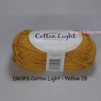 Jual DROPS Cotton Light kuning - benang rajut import katun blend impor Murah