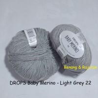 harga Drops Baby Merino Abu-abu Grey - Benang Rajut Import Impor Wool Wol Tokopedia.com