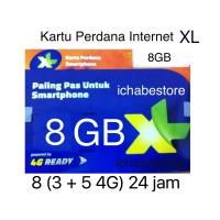harga Kartu Perdana Xl 8gb Kuota Data 8 Gb 24jam Internet Full Tokopedia.com