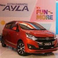 Mobik Daihatsu Ayla X Matic Merah Cash atau kredit dp 12jt
