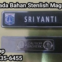 Nama Dada,Name Taq,Papan Nama Bahan Stenlish Logo DKI Magnet