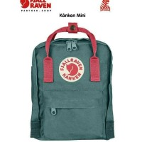 Fjallraven Kanken Mini color Frost Green Peach Pink