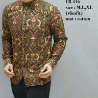 Kemeja Panjang Batik Pria Casual Motif Barong