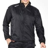 kappa Jaket Track suit- Black dan charcoal