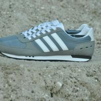 Sepatu Adidas Neo City Racer Grey Original BNWB Indonesia Shoes