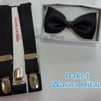 Paket Suspender/Bretel/Tali Jojon 2,5cm + Dasi Kupu Dewasa