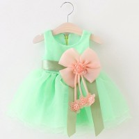 Jual DRESS ANAK 2TH - BAJU ANAK PETEMPUAN -PARTY DRESS TUTU GREEN Murah