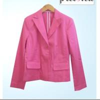 Preloved Pink Blazer, Import, kualitas msh bagus