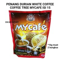 PENANG MYCAFE DURIAN WHITE COFFEE ISI 15 SACHET X 40G KOPI 4IN1