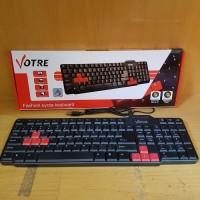Keyboard USB Standard VOTRE KB2308 Murah Acc Komputer / Laptop